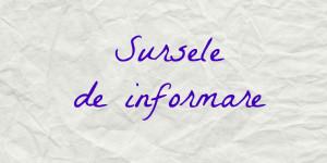 sursele de informare